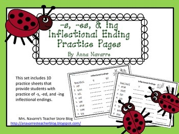 Inflectional Ending Practice Sheets