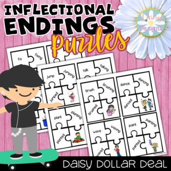 Inflectional Endings Puzzles - DOLLAR DEAL #teachersarewinners