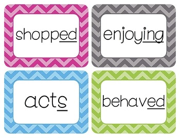 Inflectional Endings Word Wall Cards
