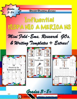 Influential Hispanic Americans Mini Research Fold-Ems and