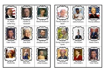 Influential people in history bingo/loteria personas afluy