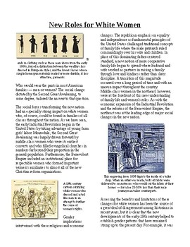 Info Reading Text -1800's National Identity: New Roles for