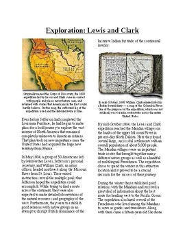 Info Reading Text - Expansion and War 1812: Lewis and Clar