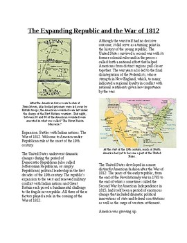 Info Reading Text - Expansion and the War of 1812 (no prep
