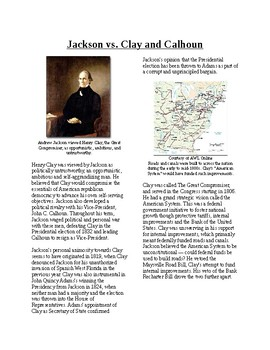 Info Reading Text - The Age of Jackson: Jackson vs. Clay a