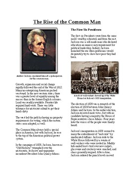 Info Reading Text - The Age of Jackson: Rise of the Common