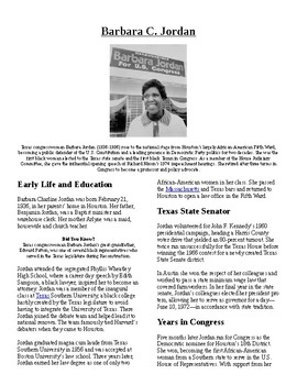 Info Read Text - Black/Women's History Month: Barbara Jord