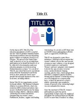 Info Reading Text - Women's History Month: Title IX (no pr