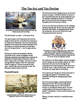Info Text - Events Leading to Independence: Tea Act and Te