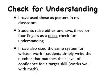 Informal Assessment Poster Set