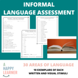 Informal Language Assessment for Speech Therapists