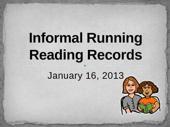 Informal Running Reading Record Training