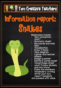 Information Report Pack - Snakes