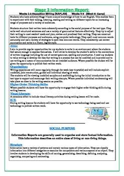 Information Report Writing Program