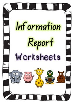 Information Report Writing Template 2