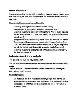 Information Sheet for Parent Volunteers
