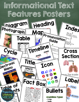 Informational Text Features Posters