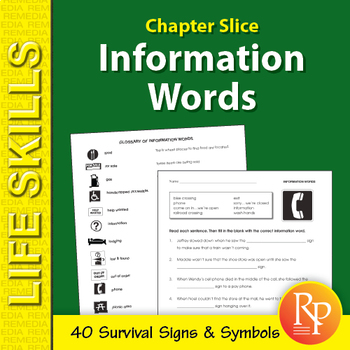 Information Words Unit: Survival Signs & Symbols Vocabulary