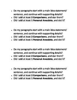Information Writing Checklist