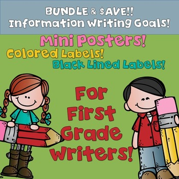 Goal Setting Labels & Posters Information Writing for Firs