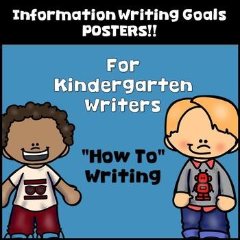 Goal Setting Mini Posters for Kindergarten Writers! Inform
