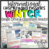 Winter Close Reading Passages {Text-Dependent Questions an