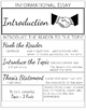 Informational Essay Formatting Handout and Posters