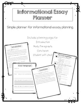 Informational Essay Planner