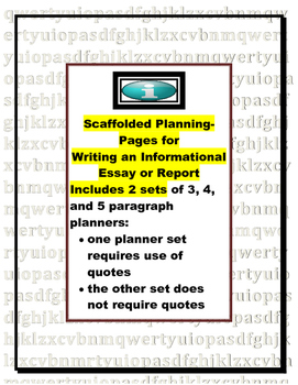 Essay Planner for Report, Research, or Summary of Informat