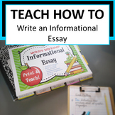 Writers Workshop: Informational Essay
