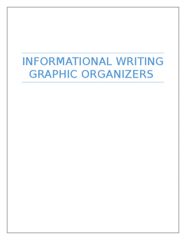 Informational Graphic Organizers