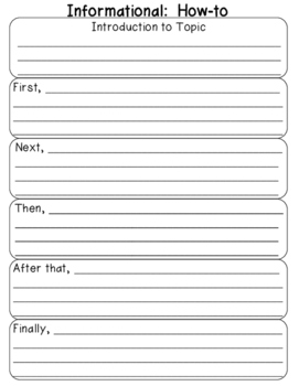 Informational How-to Graphic Organizer