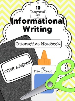 Informational Interactive Writer's Notebook Activities {CC