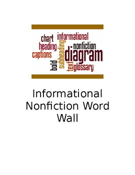 Informational Nonfiction WORD WALL