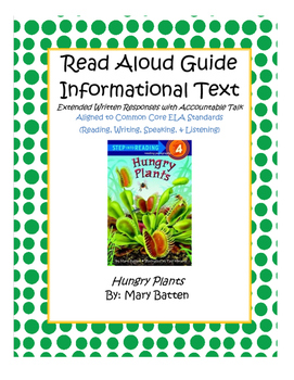 """Informational Read Aloud """"Hungry Plants"""""""