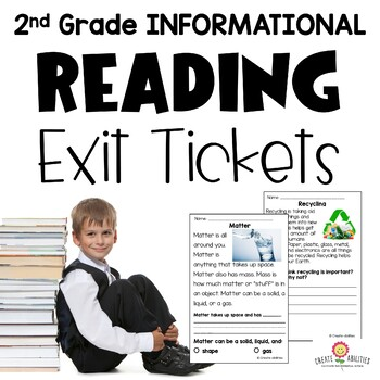 Informational Reading Exit Tickets 2nd Grade