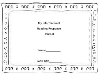Informational Reading Response Journal