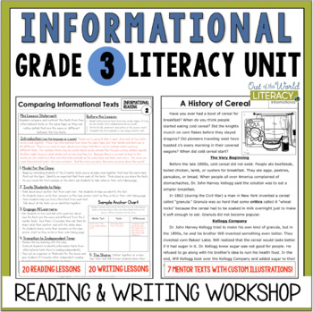 Informational Reading & Writing Unit: Grade 3...40 Lessons