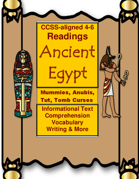Ancient Egypt Informational Readings with Questions CCSS 4-6
