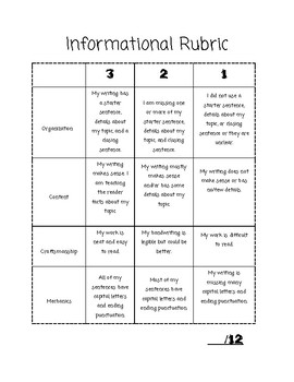 Informational Rubric