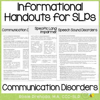 Informational Speech Handouts
