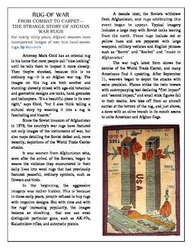 Informational Text- Afghan War Rugs/Create Fadi's Rug -Act