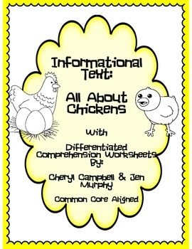Informational Text: All About Chickens {Common Core Aligned}