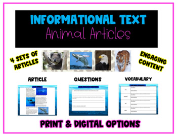 Informational Text: Amazing Animal Articles