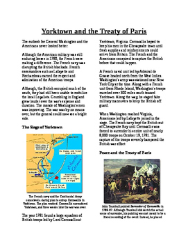 Informational Text - American Revolution: Yorktown and Tre