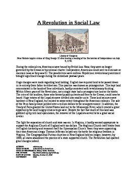 Informational Text - American Society after Revolution: So