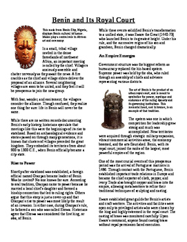Informational Text - Ancient Africa: Benin and It's Royal