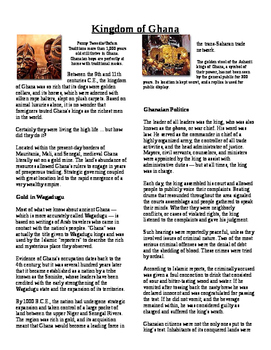 Informational Text - Ancient Africa: Kingdom of Ghana (No Prep)
