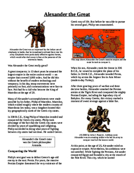 Informational Text - Ancient Greece: Alexander the Great (