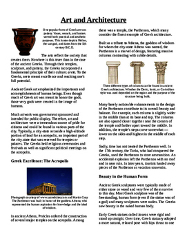 Informational Text - Ancient Greece: Art and Architecture